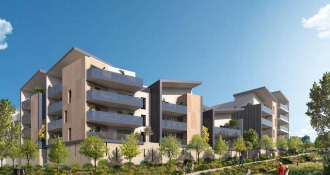 Achat / Vente programme immobilier neuf Saint-Jean-de-Védas proche parc de la Peyrière (34430) - Réf. 6122