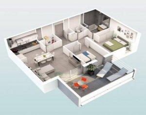 """Achat / Vente programme immobilier neuf Beziers au coeur du quartier """"Les Parcs du Frigoulas"""" (34500) - Réf. 5489"""