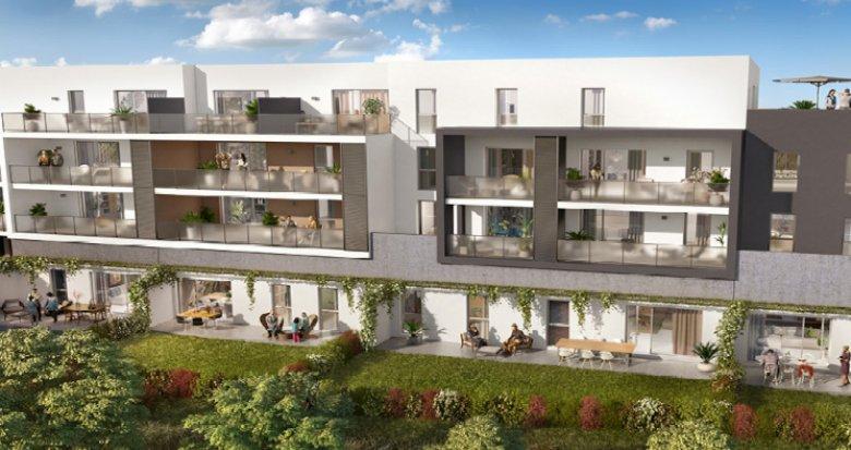 Achat / Vente programme immobilier neuf Castelnau-le-lez proche tram Centurions (34170) - Réf. 5276